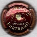 BERTRAND   N° 16   bordeaux foncé et crème, striée