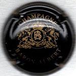 BARON Albert   N° 24   noir et or avec inscription