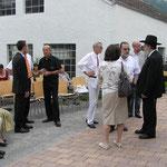 Rabbiner mit Ehepaar Pfeiffer