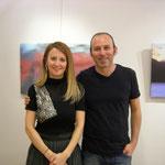 con la titolare della galleria Doku Sanat Dott.ssa Gözde Kıyat