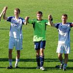 September 2012: Jubel nach dem hoch verdienten 1:0-Heimsieg über den SV Brake.