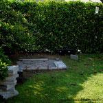 Beginn: Anfang Oktober 2011 mit dem Entfernen eines weißen Flieders und Freimachen des Platzes für die zukünftige Voliere.