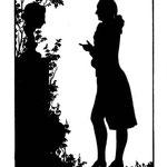 Goethe vor einer Büste der Frau von Stein