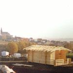 Kleingärtnerverein Brühl e.V. ca 1982: Bau einer Holzlaube 4