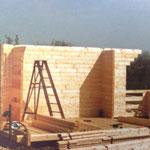 Kleingärtnerverein Brühl e.V. ca 1982: Bau einer Holzlaube 3