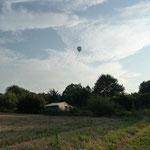 Heißluftballons- Sicht vom Lentersbach aus