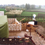 Kleingärtnerverein Brühl e.V. ca 1982: Bau der Gartenlauben 4
