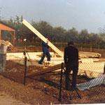 Kleingärtnerverein Brühl e.V. ca 1982: Bau einer Holzlaube 1