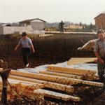 Kleingärtnerverein Brühl e.V. ca 1982: Bau einer Holzlaube 2