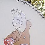 La mitica ruota dei prosciutti