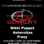 GENTILITY Konzertplakat zur Winterrockfestival Februar 2016