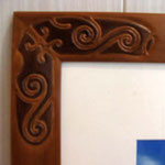 Sculpture en angle : motif local