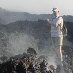 J-P walking on hot lava.