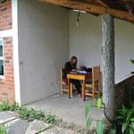Flurina à l'école / Flurina studiing