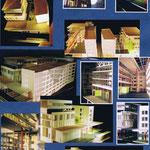 Maquette d' étude d'un hôpital 1/20e, réalisation Hervé Arnoul.