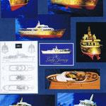 Etude aménagement et restructuration du Motor-Yacht Lady Jersey (35 m). Plans et maquettes Hervé Arnoul Pour IMS.