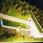 Mémorial Charles de Gaulle, maquette de présentation 1/100e réalisation Hervé Arnoul.CG de Haute-Marne.