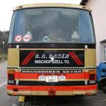 Setra S 209 HM Jg.06.1981im Jahr 2010 Heckansicht,Motorklappe DB OM 421 216PS V6