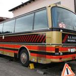 Setra S 209 Jg.06.1981 im Jahr 2007 ausgebaut als Wohnbus mit den Möbeln vom DB Postbus