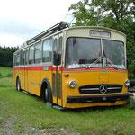 DB Postbus Mercedes O 317K mit Ramseier-Jenzer,Bern Busaufbau Jg.1971 Luftgefedert umgebaut als Wohnbus, mit el. Sonnenstore