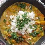 Curry - die englische Mischung und Paprika aus Mähren..