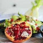 Wintersalat mit Granatapfel.