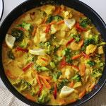 Gemüse Geflügel Curry Pfanne