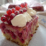 Upside down redcurrant cake.