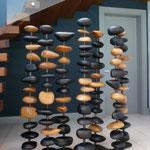"""Paravent """"les 7 colonnes"""" Hauteur 1,40m Long 1,40m larg 0,40m Collaboration Design Pascale Savey"""