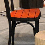 Chaise Thonet calcinée et peinte