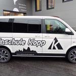 Autobeschriftung Daniel Kopp, Alpinschule