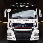 Lastwagen-Beklebung Stock, Tux
