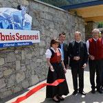 Erlebnis Sennerei Zillertal - Schild Eingang Schaubauernhof