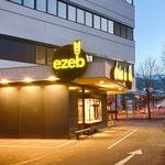 Leuchtschilder und Beschriftungen EZEB Bäckerei, Drive In in Schwaz