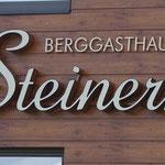 Beleuchtete 3D-Schriften Berggasthaus Steinerkogel Mayrhofen