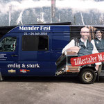 Beklebung Tourbus der Zillertaler Mander