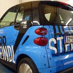 Unser neues Kundenmobil - Smart fortwo rundum beklebt!