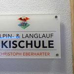 Acrylgalsschild, Alpin und Langlauf Skischule