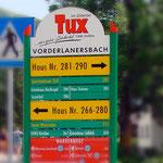 Ortsbeschilderung Tux im Zillertal
