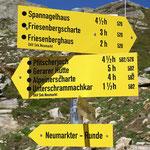 Wanderwegsbeschilderung nach dem Tiroler Bergwege-Gütesiegel