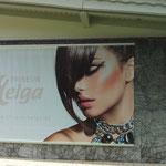 Perfekte Werbung für die Fassade