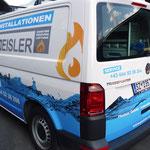 Design & Fahrzeugbeklebung VW Bus & gesamte Flotte, Installationen Geisler, Tux