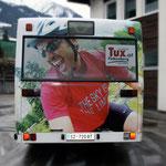 Bus-Beschriftung Tuxer Sportbus