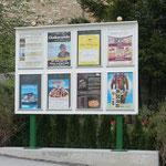 Plakatwand für die Gemeinde Finkenberg im Zillertal