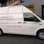 Fahrzeugbeklebung Kastenwagen Montagetischler Tipotsch, Tux