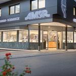 Schriften und Leuchtschriften mit Stil: Neubau Amor Optik, Zell am Ziller