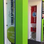 Beklebung Eingangsbereich Sportshop
