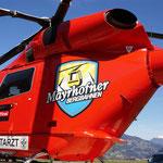 Wir beschriften nicht nur Autos... - Hubschrauberbeklebung für die Mayrhofner Bergbahnen