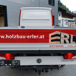 LKW-Beschriftung Holzbau Erler