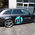 Edle Autobeschriftung für die Werbeagentur Medienjäger, Innsbruck